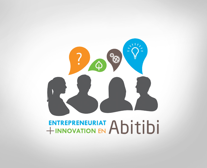 Conférence Entrepreneuriat et Innovation en Abitibi.  Logo design for an entrepreneurship and innovation conference.