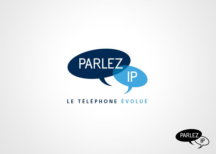 Logo for an IP phone company. Design de logo pour une entreprise de téléphonie IP.