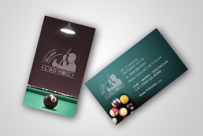 Business card design. Design de carte d'affaire.