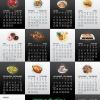 Calendar design. Design de calendrier.